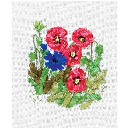 Набор для вышивания PANNA Маки и васильки 11.5x13 см, Наборы для вышивания  - купить со скидкой