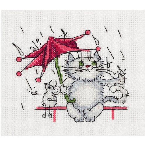 Набор для вышивания KLART Дождик 12x11 см