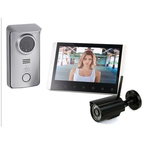 Беспроводной домофон с камерой Skynet R80 с 1 камерой, домофон с камерой, беспроводной домофон, видеодомофон с камерой подарочная упаковка