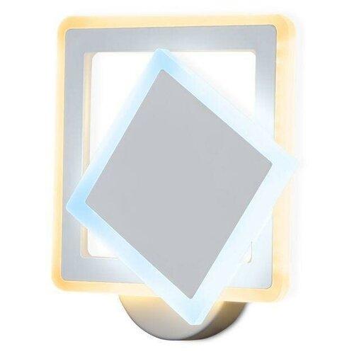 Фото - Настенный светильник Ambrella light FA565 WH/S белый/песок, 13 Вт настенный светильник ambrella light fa565 wh s белый песок 13 вт