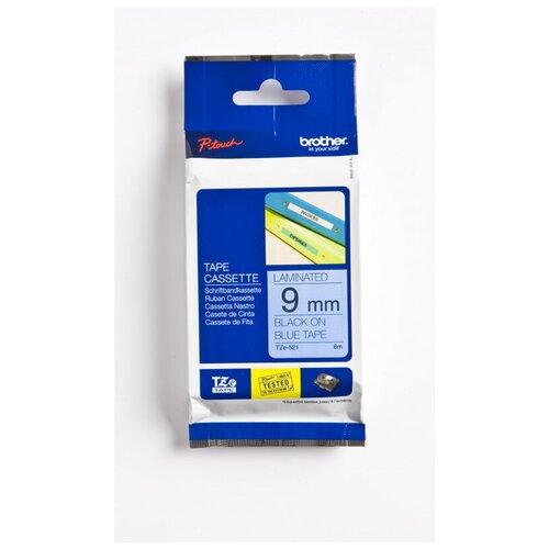 Фото - Картридж к этикет-принтеру Brother TZe-521 9ммх8м чер/син лам. для P-Touch картридж для принтера этикеток brother арт tze 253 24 мм