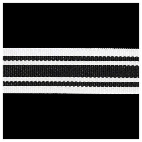 Р90239 Лента отделочная 30мм*50м (белый с черным) 50 м