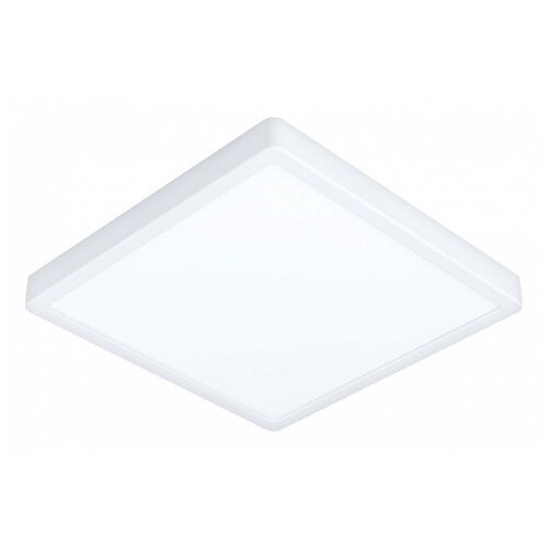Фото - Накладной светильник Eglo ПРОМО, 1х20W, белый, размеры (мм)-285x285x28, 3000К, плафон - белый накладной светильник novotech 3х12w белый размеры мм 105x38x236 3000к плафон белый черный