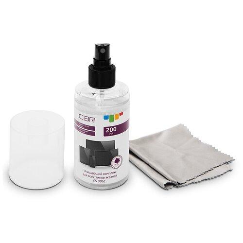 Фото - Набор CBR CS 0061 чистящий спрей+многоразовая салфетка для экрана набор для чистки мониторов durable screenclean спрей 125 мл 20 салфеток