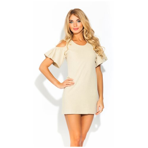 Платье - туника AZALEA (PM 1437) размер S (44), кремовый меланж