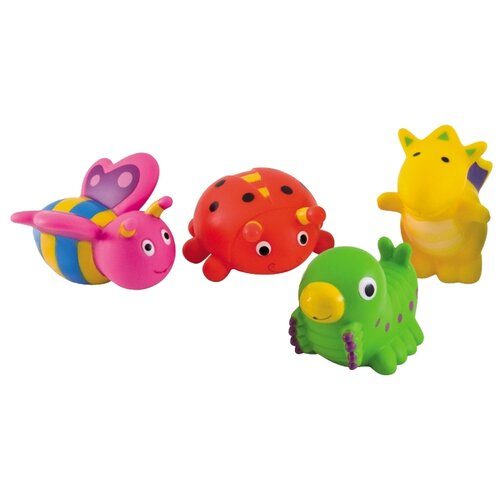 Купить Набор для ванной Canpol Babies Сад (2/997) желтый/красный/зеленый, Игрушки для ванной
