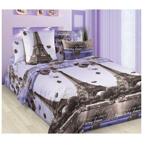 Постельное белье 2сп/рез.(160х200) бязь Романтика Парижа (Ф)