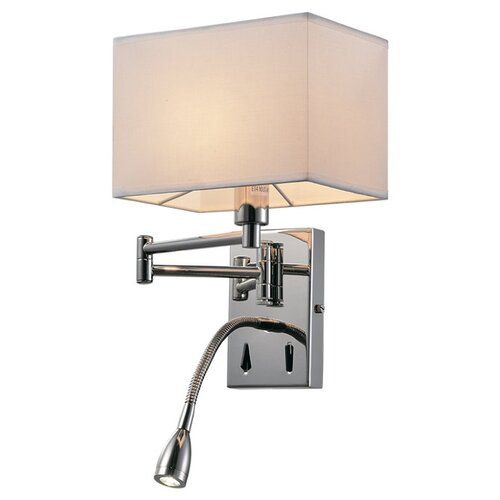 Бра Люмьен Холл Lekko LH1058/1W-NK-WT, E14, 40 Вт, кол-во ламп: 1 шт., цвет арматуры: никель, цвет плафона: белый