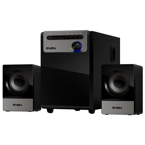 Компьютерная акустика SVEN MS-110 черный портативная акустика sven ps 68 черный