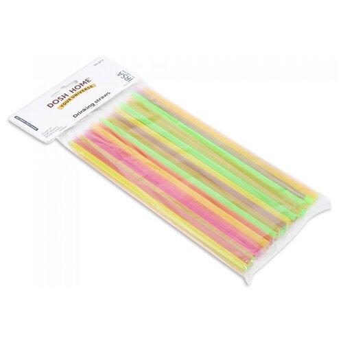 Фото - DOSH   HOME Трубочки одноразовые пластиковые Irsa, 50 шт., розовый/желтый/зеленый набор измерительных емкостей dosh home irsa 3 шт 101132