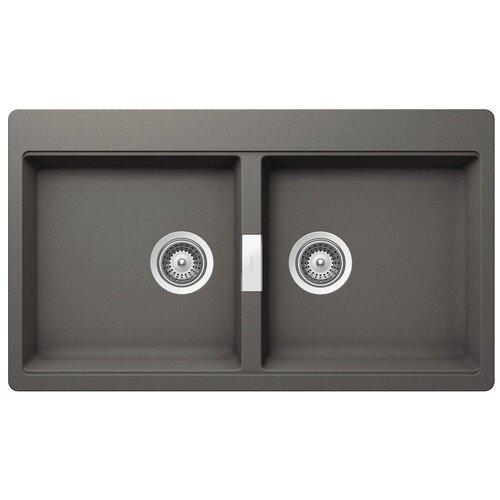 Фото - Врезная кухонная мойка 86 см Schock Horizont 90 (N-200) серебристый камень врезная кухонная мойка 45 см schock soho n 100s серебристый камень