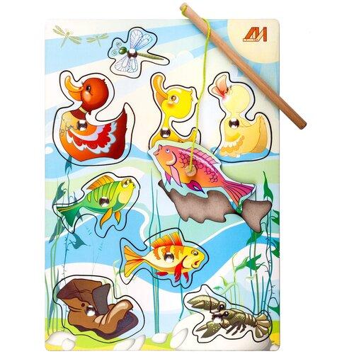 Фото - Рыбалка Деревянные игрушки На пруду голубой/желтый деревянные игрушки topbright магнитная игра рыбалка 26 элементов
