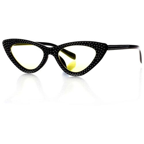 Солнцезащитные очки женские/Очки солнцезащитные женские/Солнечные очки женские/Очки солнечные женские/21kdg8060-104vr черныйжелтый/Vittorio Richi/Кошачий глаз/модные