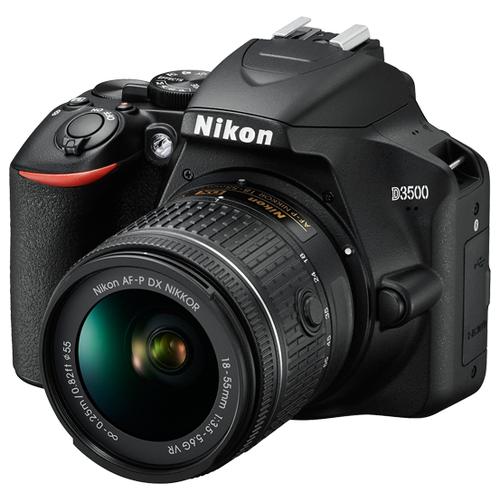 Фото - Фотоаппарат Nikon D3500 Kit черный AF-P 18-55mm f/3.5-5.6 VR фотоаппарат nikon z50 kit 16 50mm vr 50 250mm vr