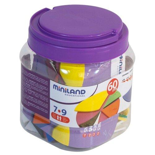Обучающий набор Miniland для изучения дробей Fraction Set 95218 разноцветный