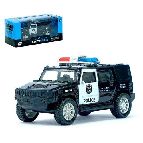 Фото - АВТОГРАД Машина металлическая Полицейский джип, масштаб 1:43 , инерция 3232593 автоград машина металлическая полицейский джип инерц свет и звук масштаб 1 43 sl 2493e 1740075