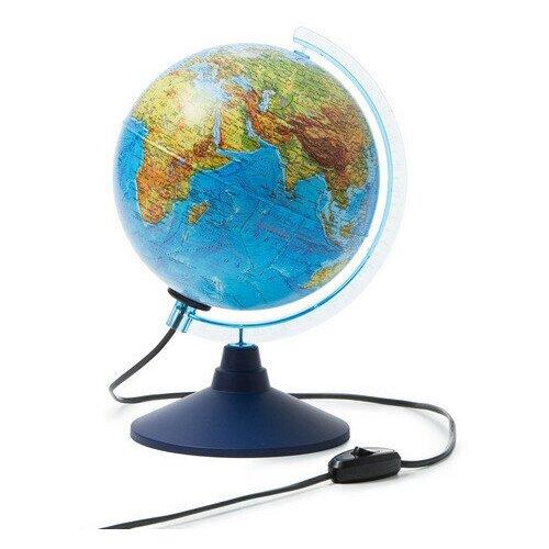Фото - Глобус Земли физико-политический,Классик,подсветка,210мм глобус globen глобен d 210мм серия классик политический с подсветкой