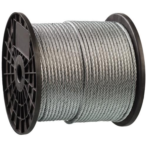 Трос стальной, оцинкованный, DIN 3055, d=8 мм, L=80 м, ЗУБР Профессионал 4-304110-08 трос стальной зубр din 3055 d 6 мм l 120м профессионал 4 304110 06