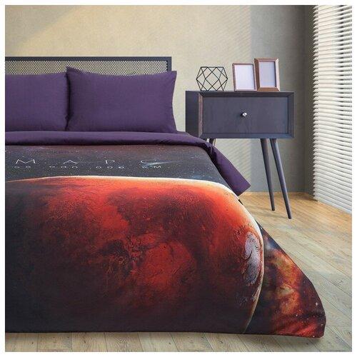 Фото - Постельное белье 2-спальное Этель Red planet, мако-сатин, 50 х 70 см, красный/фиолетовый этель комплект постельного белья этель red planet 2 спальное