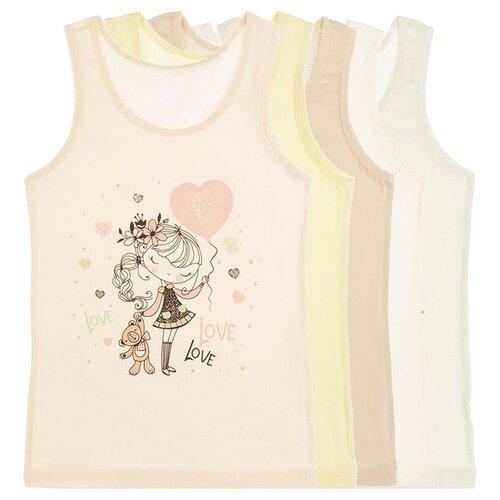 Купить Майка для девочек 4971NN, Цвет: Микс, Размер: 4/5, 5шт. в упаковке, Donella, Белье и купальники