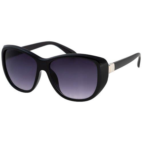 Солнцезащитные очки женские/Очки солнцезащитные женские/Солнечные очки женские/Очки солнечные женские/21kdgaer1202108c1vr черный/Vittorio Richi/Кошачий глаз/модные