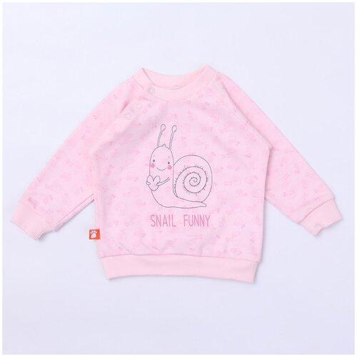 Купить Свитшот KotMarKot размер 92, розовый, Джемперы и толстовки