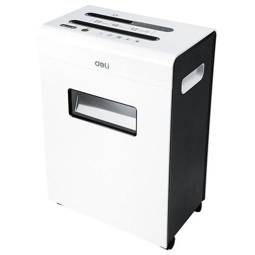Уничтожитель бумаг deli E9903-EU черный/белый
