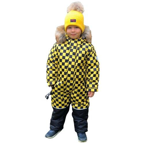 Зимний детский комбинезон Lapland мембрана Квадро размер 92, желтый