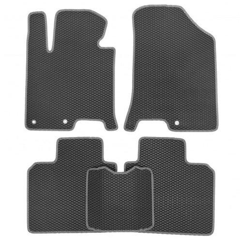 Комплект ковриков для салона ЕВА Dodge Caliber 2006 - 2013 (светло-серый кант)Vicecar