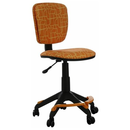 Компьютерное кресло Бюрократ CH-204-F детское, обивка: текстиль, цвет: оранжевый жираф компьютерное кресло бюрократ ch w797 abstract детское обивка текстиль цвет мультиколор абстракция
