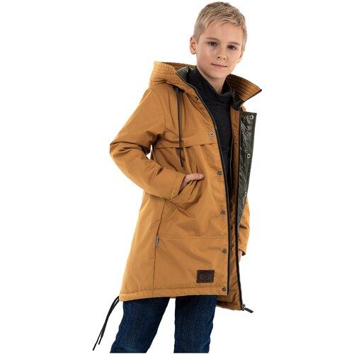 Купить Парка для мальчика Talvi 123302, размер 140-68, цвет горчица, Куртки и пуховики