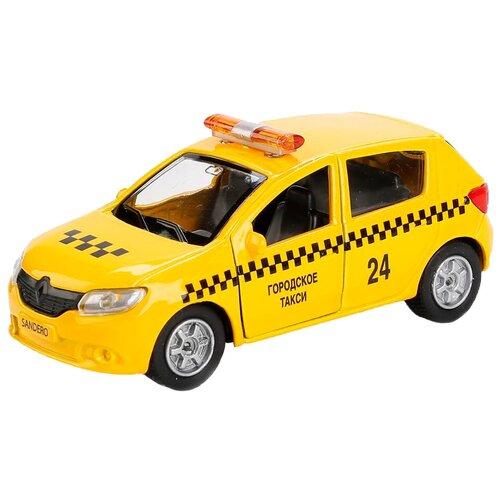 Легковой автомобиль ТЕХНОПАРК Renault Sandero (SB-17-61-RS(T)-WB), 12 см, желтый легковой автомобиль технопарк renault kaptur 1 36 12 см оранжевый