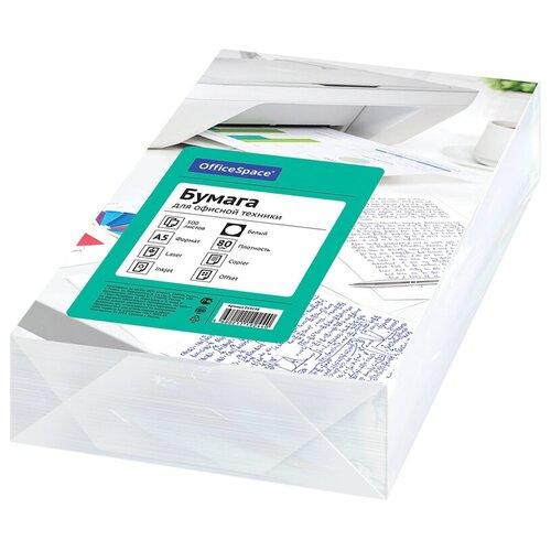 Фото - Бумага OfficeSpace A5 264198 80г/м2 500 лист, белый бумага officespace a4 pale 80г м2 50лист цветная фиолетовый