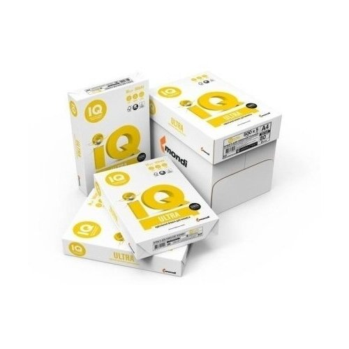 Бумага для офисной техники IQ Ultra (А4, 80 г/кв.м, 168% CIE, класс А) пачка 500 листов, 5 шт