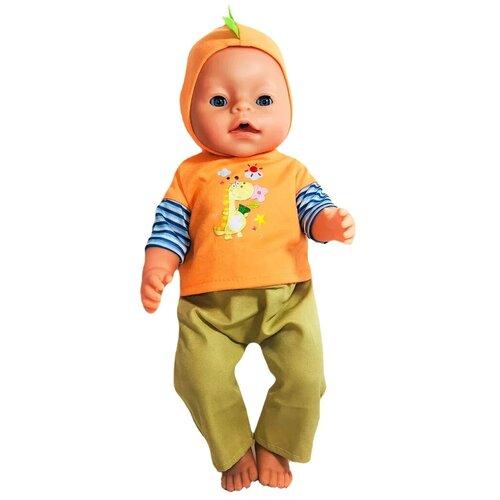 Одежда для пупса BLC69 Doll Dress, штаны и кофта с капюшоном, для пупса 38-43 см