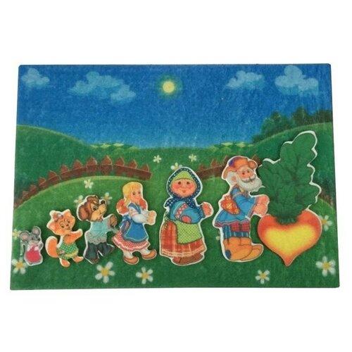 Купить Развивающая игра из фетра на липучках по сказке Репка , Веселые липучки, Развивающие коврики
