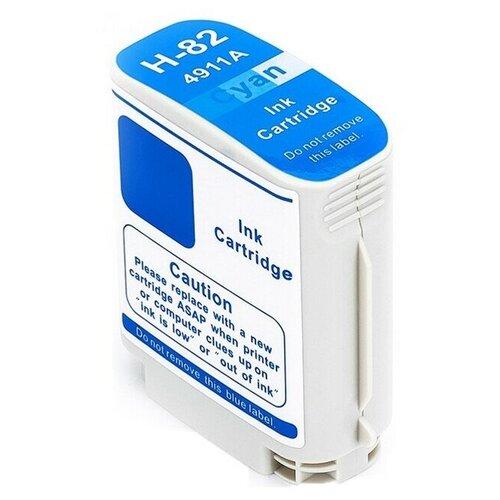 Картридж C4911A №82 для принтеров HP, водный голубой (cyan), для струйных принтеров, совместимый