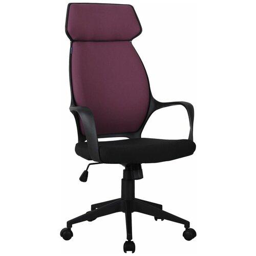 Кресло для руководителя Alsav кресла AL 767, обивка: текстиль, цвет: ткань черная/бордовая