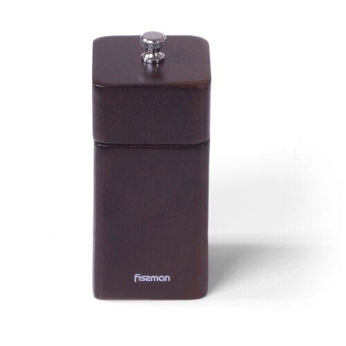 мельница для перца фигурная fissman 11x5 см Мельница для перца Fissman квадратная 11x5 см (деревянный корпус, нерж.сталь) (8188)