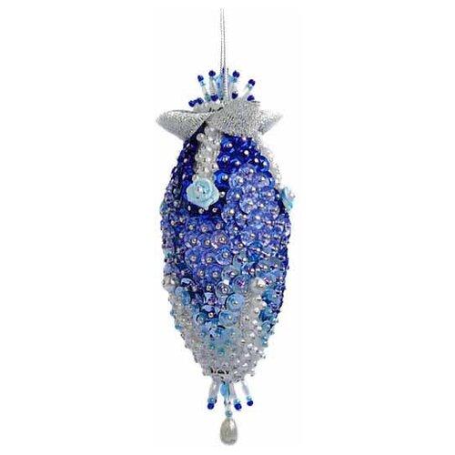 Купить Набор для творчества - елочная игрушка Синий кристалл 13, 5 см FS-075, ФИЛИГРИС, Изготовление кукол и игрушек