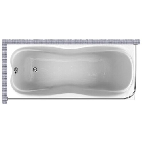 """Карниз для ванной (Штанга) """"усиленный 20"""" Triton эмма 170x70 Г-образный, угловой"""