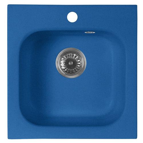 Врезная кухонная мойка 44.5 см А-Гранит M-43 синий врезная кухонная мойка 56 см а гранит m 56 синий
