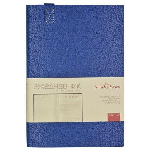 Купить Ежедневник недатированный A5, 136 л., 147Х214мм TREND (синий), Bruno Visconti, Ежедневники