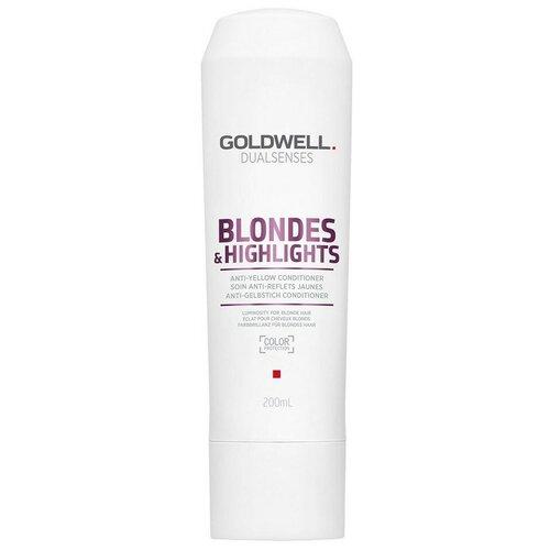 Купить Goldwell Dualsenses кондиционер Blondes & Highlights Anti-Yellow против желтизны осветленных волос, 200 мл