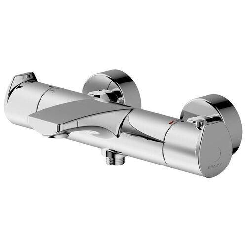 Смеситель для ванны с подключением душа Bravat Nizza F6353387CP-01-RUS двухрычажный с термостатом хром