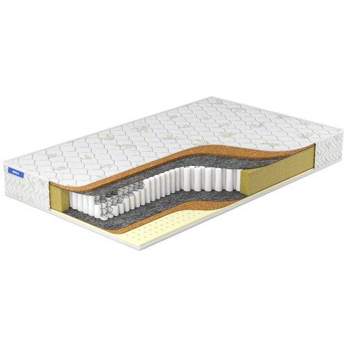 Матрас Miella Cocos-Hard Maxi Multipoket, 195x200 см, пружинный, белый матрас miella cocos hard maxi multipoket 140x200 пружинный белый