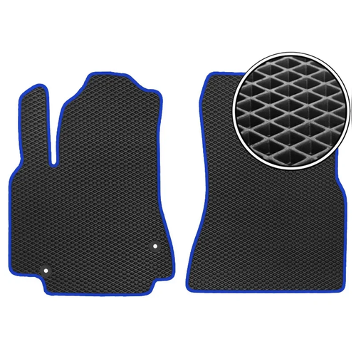 Комплект передних автомобильных ковриков ЕВА Haval F7x 2019 - н.в. (темно-синий кант) ViceCar
