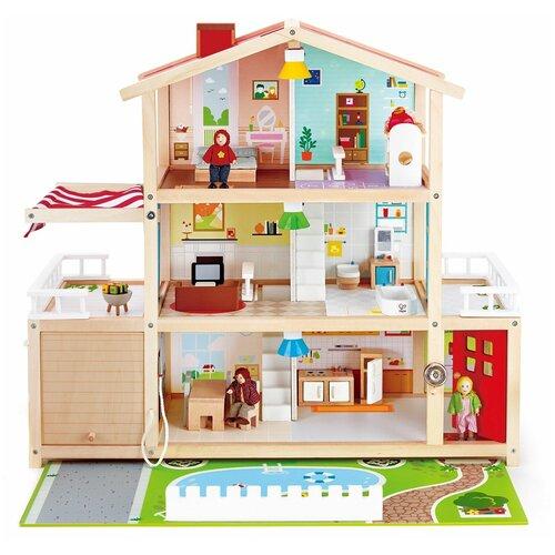 Hape Doll Family Mansion E3405, белый/красный