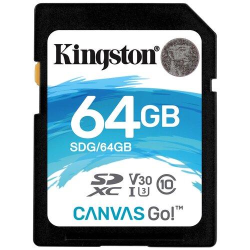Фото - Карта памяти Kingston SDG 64 GB, чтение: 90 MB/s, запись: 45 MB/s карта памяти sony qdg 64 gb чтение 400 mb s запись 350 mb s