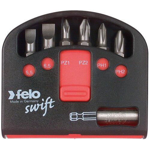 Felo Набор бит PZ/PH Industrial с держателем бит в кейсе Swift, 7 шт 02060326